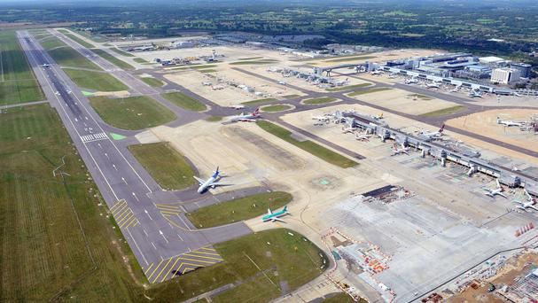The main runway at Gatwick was closed
