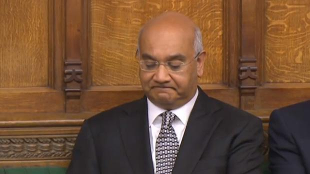 Labour MP Keith Vaz after speaking in the House of Commons