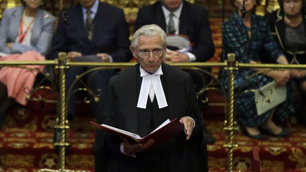 Lord Fowler sits as Lord Speaker for the first time