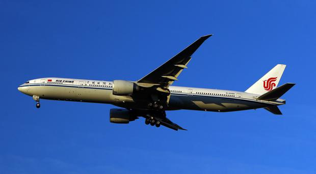 The warning was said to have appeared in the Air China inflight magazine
