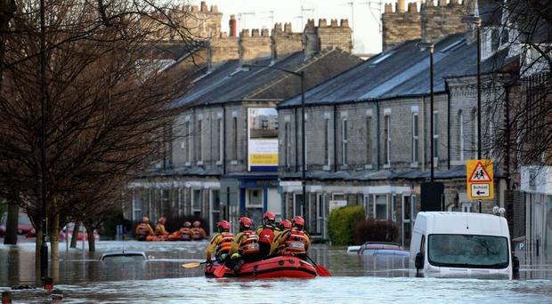 Flooding in York last year, as the National Flood Resilience Review is published