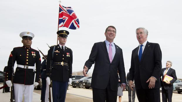 Ash Carter and Michael Fallon are discussing Syria.