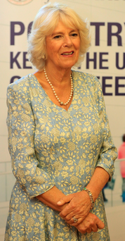 The Duchess of Cornwall during her visit to the Royal London Hospital for Integrated Medicine in London