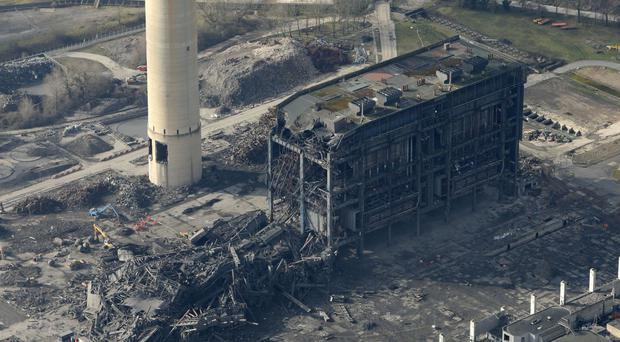 An aerial view of Didcot Power Station, Oxfordshire