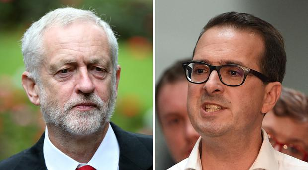 Jeremy Corbyn (left) and Owen Smith clashed during the televised Labour leadership contest.