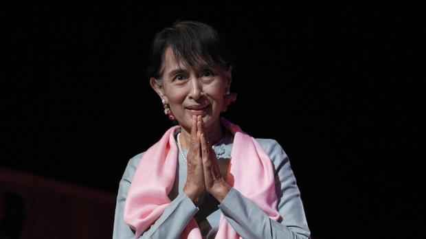 Aung San Suu Kyi is Burma's de facto leader