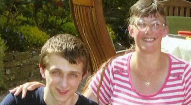 Lynne Sandford and her son Michael