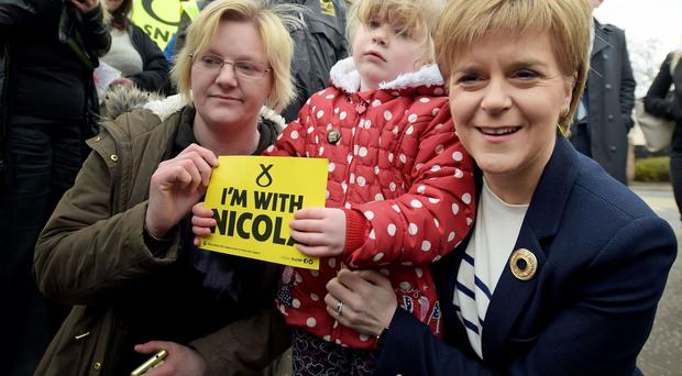 The First Minister made health and childcare commitments.