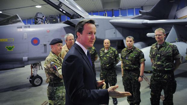 David Cameron's military intervention in Libya was based on