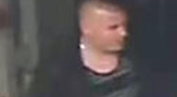 Thames Valley Police released this CCTV image of a man they wanted to speak to about the alleged assault in Bletchley.
