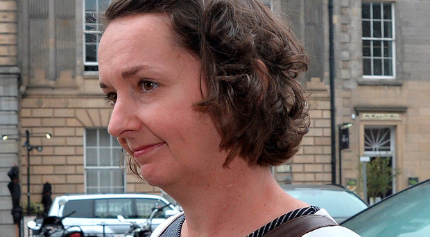 Pauline Cafferkey outside the Nursing and Midwifery Council following a hearing yesterday