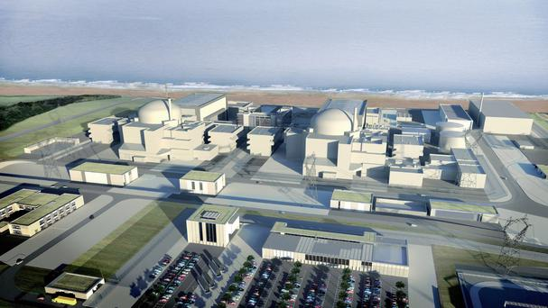CGI image of Hinkley Point C, as Theresa May will be petitioned to drop the planned power station and invest in renewable power instead (EDF Energy/PA)