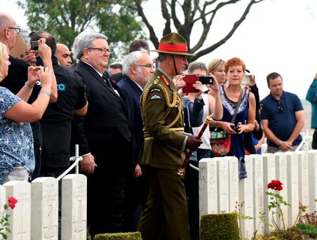 The Prince of Wales attends the New Zealand Somme Commemorations at the Caterpillar Valley Commonwealth War Graves Commission Cemetery in Longueval, France