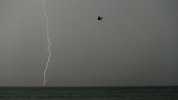 The recordbreaking heatwave ended dramatically with thunder and lightning