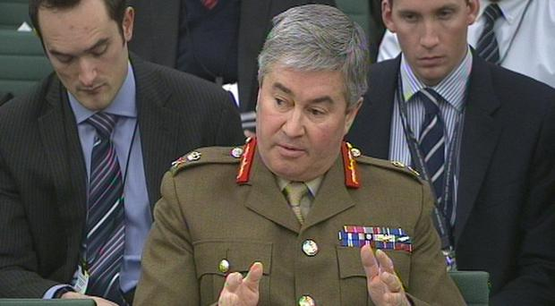 General Sir Richard Barrons said armed forces capability had been withered by design