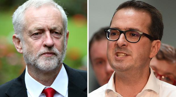Labour leadership challengers Jeremy Corbyn (left) and Owen Smith.