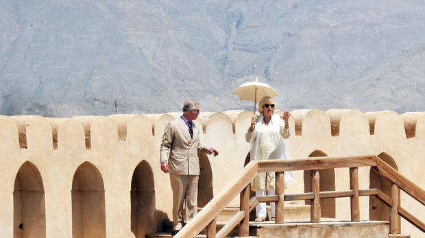 Charles and Camilla on a previous visit to Oman