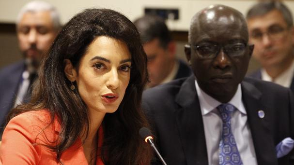 Amal Clooney was critical of the UN's failure to take stronger action against Islamic State (FCO/PA)
