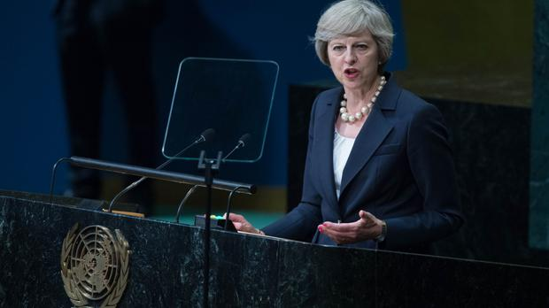 Prime Minister Theresa May addresses the Untied Nations General Assembly in New York for the first time as PM.