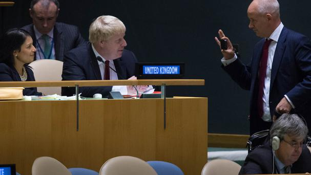Foreign Secretary Boris Johnson at the Untied Nations General Assembly in New York.