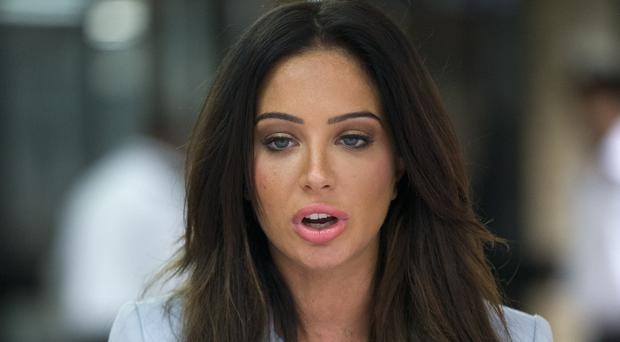Tulisa Contostavlos outside Southwark Crown Court after her trial over drugs allegations collapsed