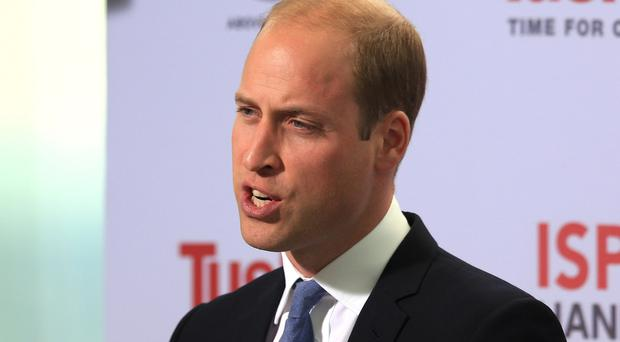 The Duke of Cambridge speaks at the Time For Change event at the Shard skyscraper in London