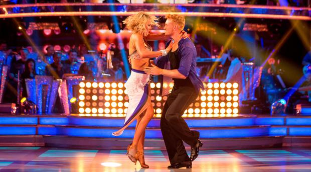 Natalie Lowe (left) and Greg Rutherford