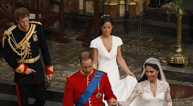Pippa acting as bridesmaid to William and Kate