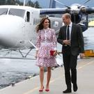 The Duke and Duchess of Cambridge arrive by seaplane in Vancouver