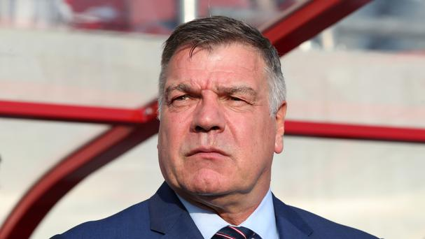 Sam Allardyce at England's game against Solcakia in Trnava
