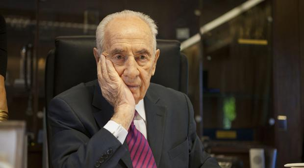 Shimon Peres pictured in 2014 - the former Israeli president and prime minister has died (AP)