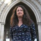 Samantha Jeffries, from East Sussex, arrives at the High Court in London