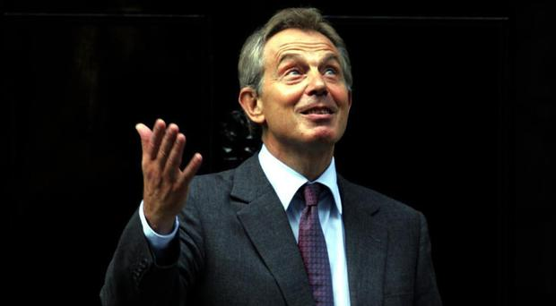 Prime Minister Tony Blair outside 10 Downing Street in central London.