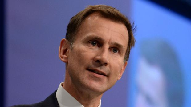 File photo dated 06/10/15 of Health Secretary Jeremy Hunt who has backed a campaign to tackle the stigma around mental health.