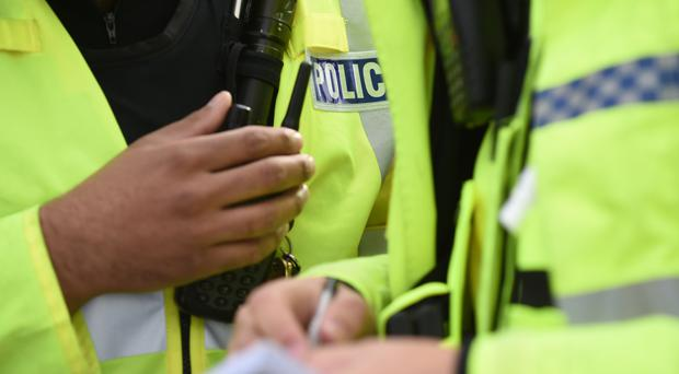 Four Dyfed-Powys Police officers were taken to hospital