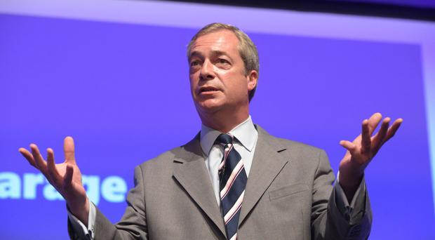 Nigel Farage spoke at a rally for Donald Trump in August