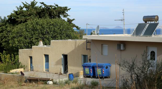 A view of the property in Kos, Greece, as officers from South Yorkshire Police continue excavations in relation to missing toddler Ben Needham