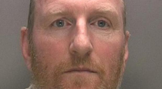 Ex-PC Steven Walters has been jailed for four years for sexually assaulting one woman in back of police car and other in her own home (Picture: West Midlands Police)