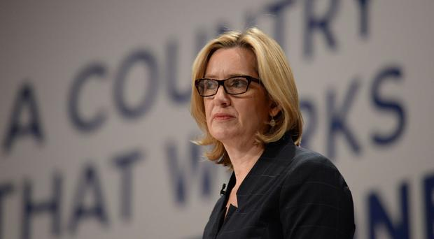 Home Secretary Amber Rudd on the third day of the Conservative Party conference