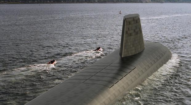 A computer generated image shows what the Successor submarines may look like (Ministry of Defence/PA)