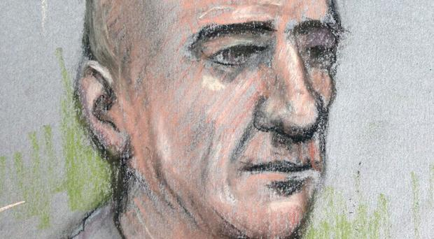 Court artist sketch of Stephen Port who is on trial at the Old Bailey, accused of drugging and murdering four men he met on gay websites (Elizabeth Cook/PA)