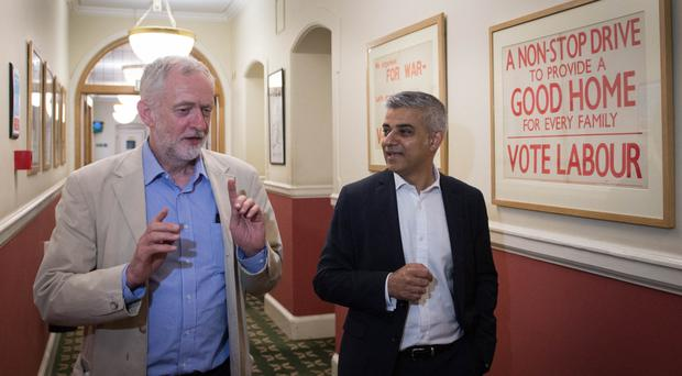 Jeremy Corbyn and Sadiq Khan will join campaigners on the streets of London's East End