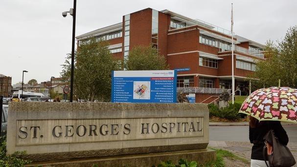 The main entrance to St George's Hospital in Tooting, south-west London