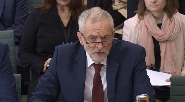 Labour leader Jeremy Corbyn gives evidence to the Commons Women and Equalities Committee