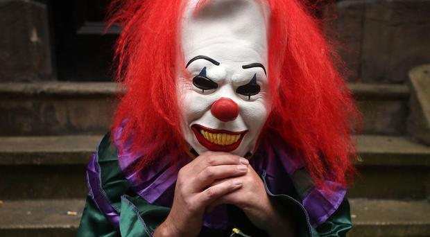 The killer clown craze sweeping the UK has led to a deluge of calls to Childline from youngsters left terrified by the sinister phenomenon (File photo)