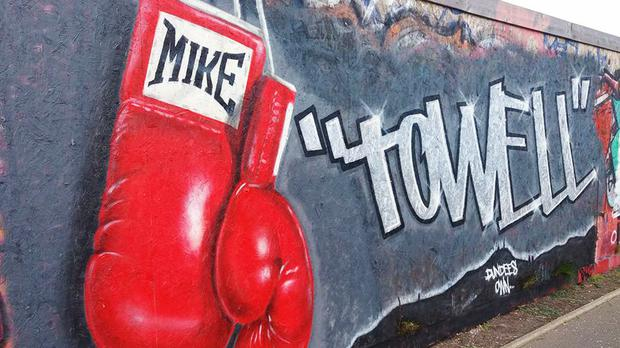 A mural created in Dundee in memory of the boxer (Symon Mathieson/PA Wire)