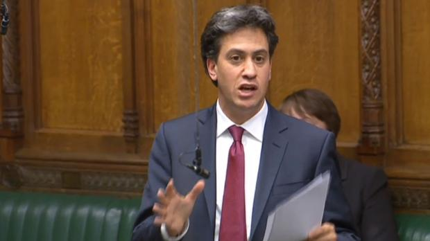 Former Labour leader Ed Miliband speaks during a debate on Brexit in the House of Commons, London.