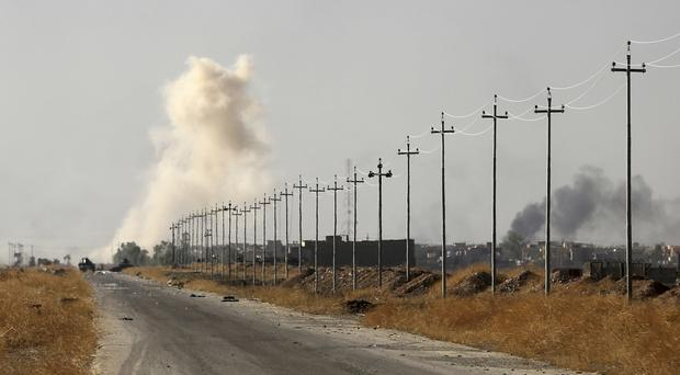 Increased military pressure on IS, including the offensive in Mosul, has sparked concern about potential displacement of militants (AP)