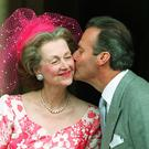 Count de Chambrun with Countess Raine Spencer, the stepmother of Diana, Princess of Wales, who has died aged 87