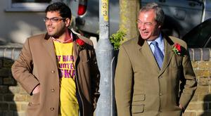 Nigel Farage's former aide Raheem Kassam (left) has been backed to be the new Ukip leader